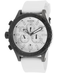Nixon Men'S 42-20 Chrono White Polyurethane And Dial - Lyst