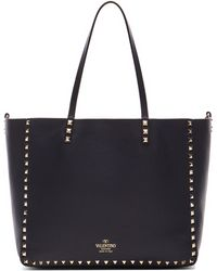 Valentino Medium Rockstud Double Tote - Lyst