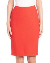 St. John | Nouveau Boucle Knit Pencil Skirt | Lyst