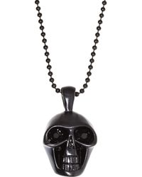 Blackjack - Skull Pendant Necklace - Lyst