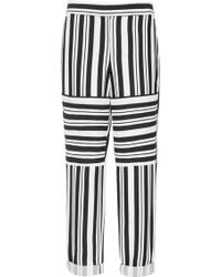 Tibi Woven Striped Cropped Pants - Lyst