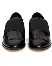 Pedder Red - Ashley Fringed Leather Loafers - Lyst