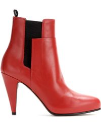 Balenciaga Leather Ankle Boots - Lyst