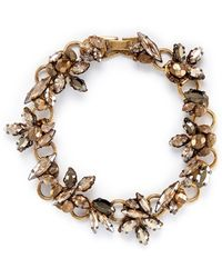 Erickson Beamon Golden Rule Crystal Foliage Bracelet - Lyst
