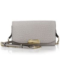 Burberry Madison Small Pebbled Leather Clutch white - Lyst