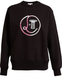 Olympia Le-Tan Embroidered Sequin Sweatshirt - Lyst