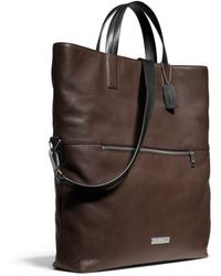Coach Thompson Foldover Tote In Leather - Lyst