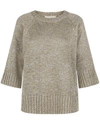 Michael Kors Lurex Knit Jumper - Lyst