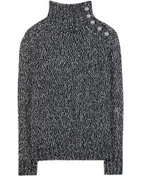 Balmain Knit Sweater with Embossed Buttons - Lyst
