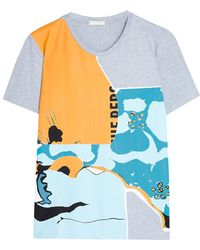 Michael Van Der Ham Grey Tropical Tshirt - Lyst