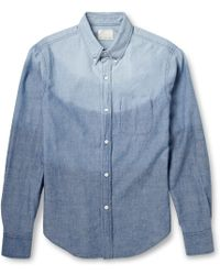 Band Of Outsiders Degradã Cottonchambray Shirt - Lyst