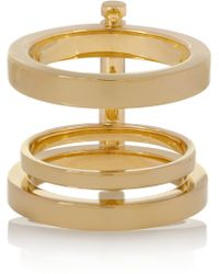 Chloé Goldtone Ring - Lyst