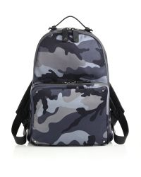 Valentino Camo Leather-Trimmed Cotton Backpack blue - Lyst