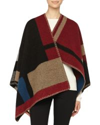 Burberry Prorsum - Colorblock Check Blanket Poncho - Lyst