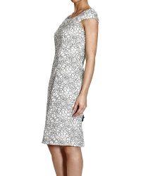 Dior Dress Short Sleeve Sheath Lace - Lyst