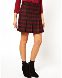 See U Soon - Check Skirt with Kilt Detail - Lyst