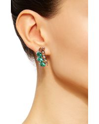 Sutra - Emerald Butterfly Earrings - Lyst
