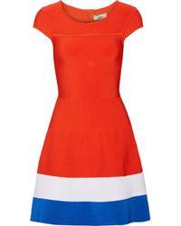 Issa Red Stretch-knit Dress - Lyst