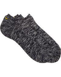 Yohji Yamamoto Mélange Ankle Socks - Lyst