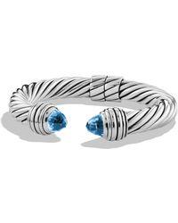 David Yurman Cable Classics Bracelet blue - Lyst