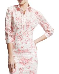 Carolina Herrera Marilyn Toile Buttondown Blouse - Lyst