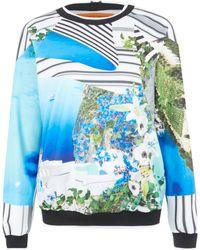 Clover Canyon - Blue Santorini Print Sweatshirt - Lyst