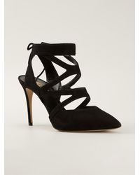 Casadei Cross Strap Pumps - Lyst