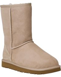 Ugg | Classic Short Boot Sand Suede | Lyst