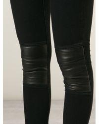 Avelon - Neon Paneled Skinny Mid-Rise Jeans - Lyst