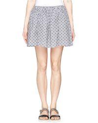 See By Chloé Fil Coupé Jacquard Cotton Poplin Skirt black - Lyst