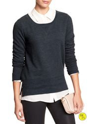 Banana Republic Factory Side-seam Sweater - Lyst