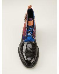 Vivienne Westwood - Tartan Panel Brogue Boots - Lyst