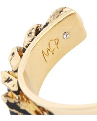 MFP MariaFrancescaPepe - Gold Plated Distressed Chain Cuff - Lyst