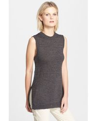 Theory 'Meenaly' Sleeveless Sweater - Lyst