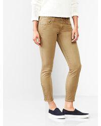 Gap Moto Zip Always Skinny Skimmer Jeans - Lyst