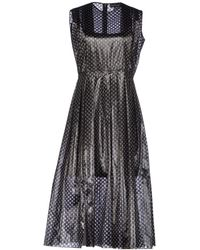 Jonathan Saunders 3/4 Length Dress black - Lyst