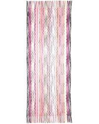 Missoni Wave-Stripe Fringe Scarf pink - Lyst