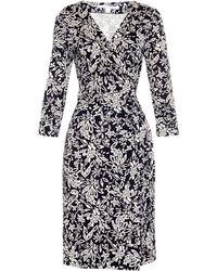 Diane von Furstenberg New Julian Two Dress blue - Lyst