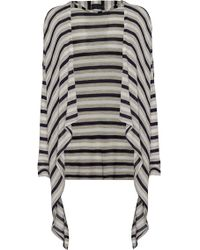 James Lakeland Stripe Waterfall Cardigan - Lyst