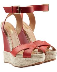 DSquared² Leather Wedges - Lyst