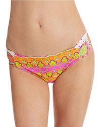 Trina Turk Woodblock Floral Hipster Swim Bottoms - Lyst