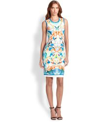 Roberto Cavalli Printed Punto Dress - Lyst