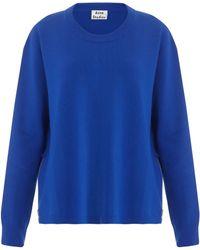 Acne Studios Misty Boiled Ls Zip Sweater - Lyst