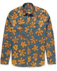 Burberry Prorsum Leafprint Cotton and Silkblend Shirt - Lyst
