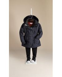 Burberry Technical Parka Jacket with Warmer - Lyst