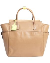Reed Krakoff Tan Leather Atlantique Top Handle Tote - Lyst