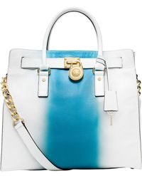 MICHAEL Michael Kors Hamilton Leather Spray Large North/South Tote Bag - Lyst