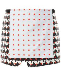 Thakoon Addition - Printed Wrap-Front Skirt - Lyst