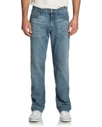 7 For All Mankind Austyn Faded Straightleg Jeans - Lyst