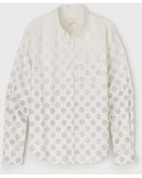 Band Of Outsiders Degrade Dot Button Down Shirt - Lyst